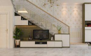 tủ gầm cầu thang phòng khách